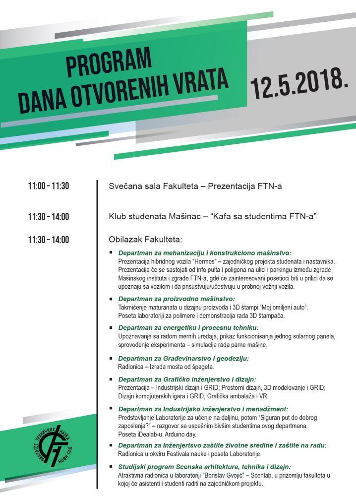 Program - Dan otvorenih vrata