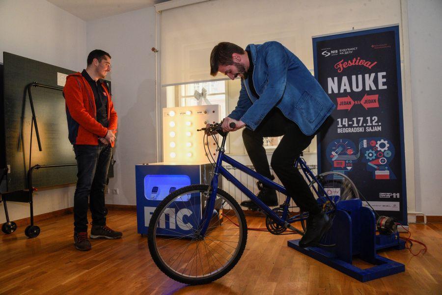 Festival nauke - Bicikl generator